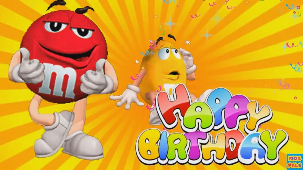 M&M Candy Happy Birthday song for children| Nursery rhyme for kids|Funny Happy birthday song M&M