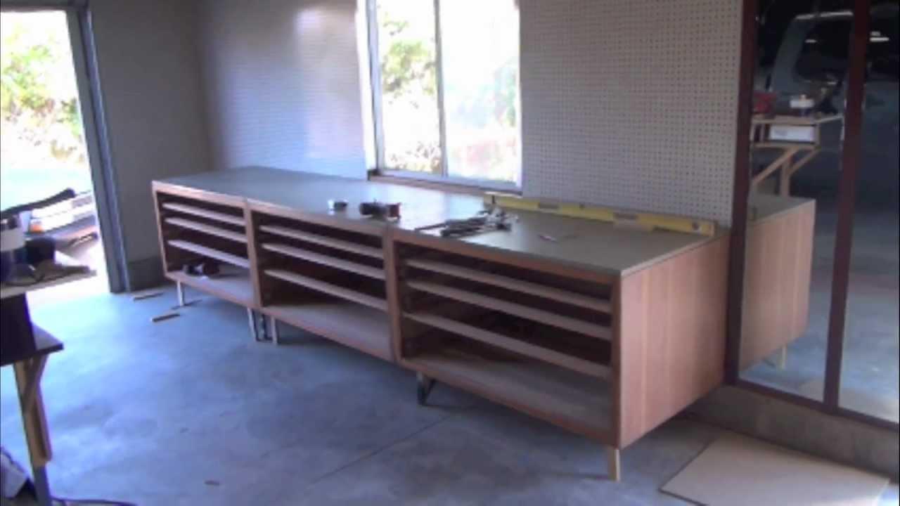 Wooden Drawer Cabinet Work Bench  Installation  Work