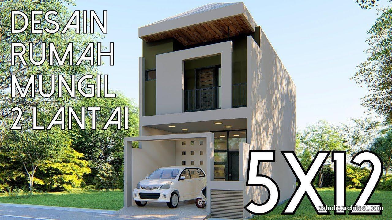 Desain Rumah Mungil 2 Lantai 5x12m Kode 143b Youtube