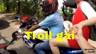 MotoVlog | Cbr600 - Troll girl and result...