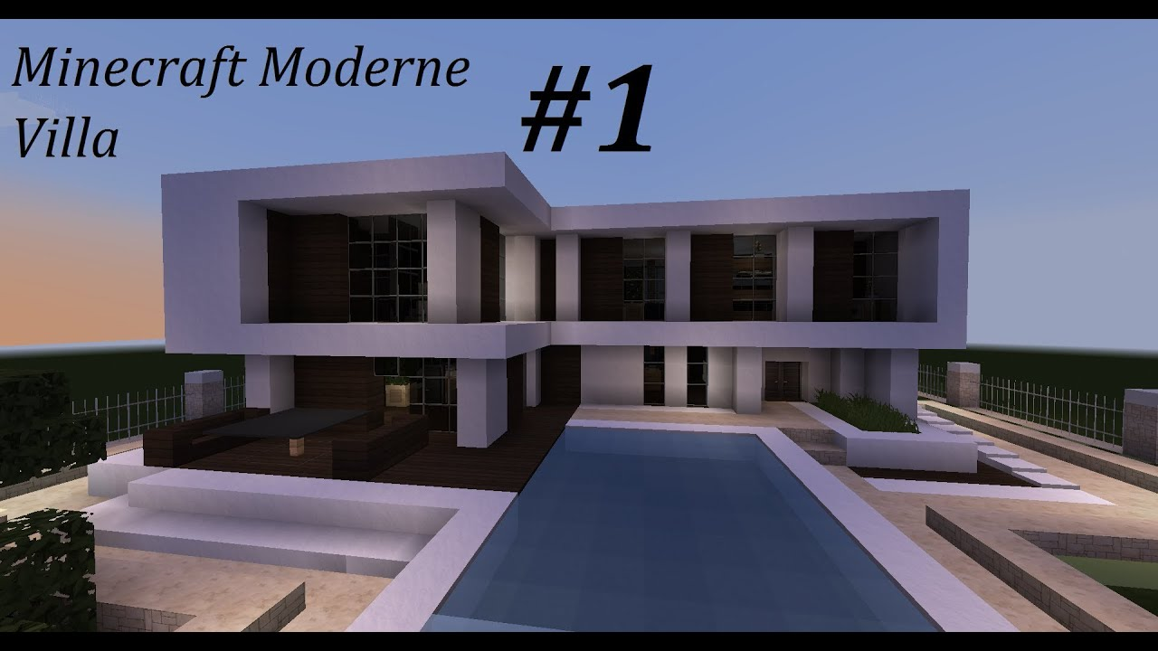 Minecraft moderne villa 1 youtube for Minecraft modernes haus 20x20
