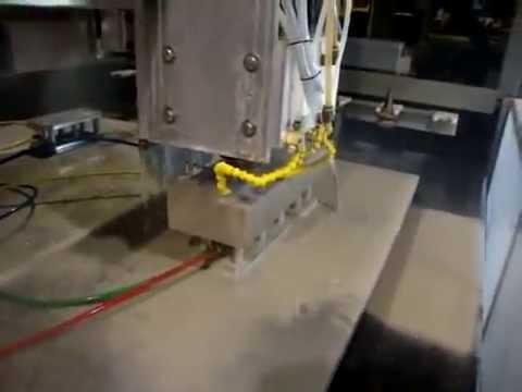 Резка известняка на фрезерно гравировальном станке с ЧПУ и водяным охлаждением