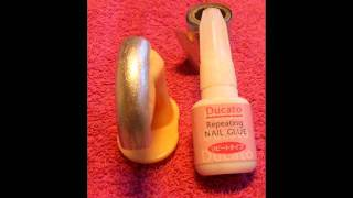 Transfer folie stap voor stap met Ducato Repeating Nail Glue.