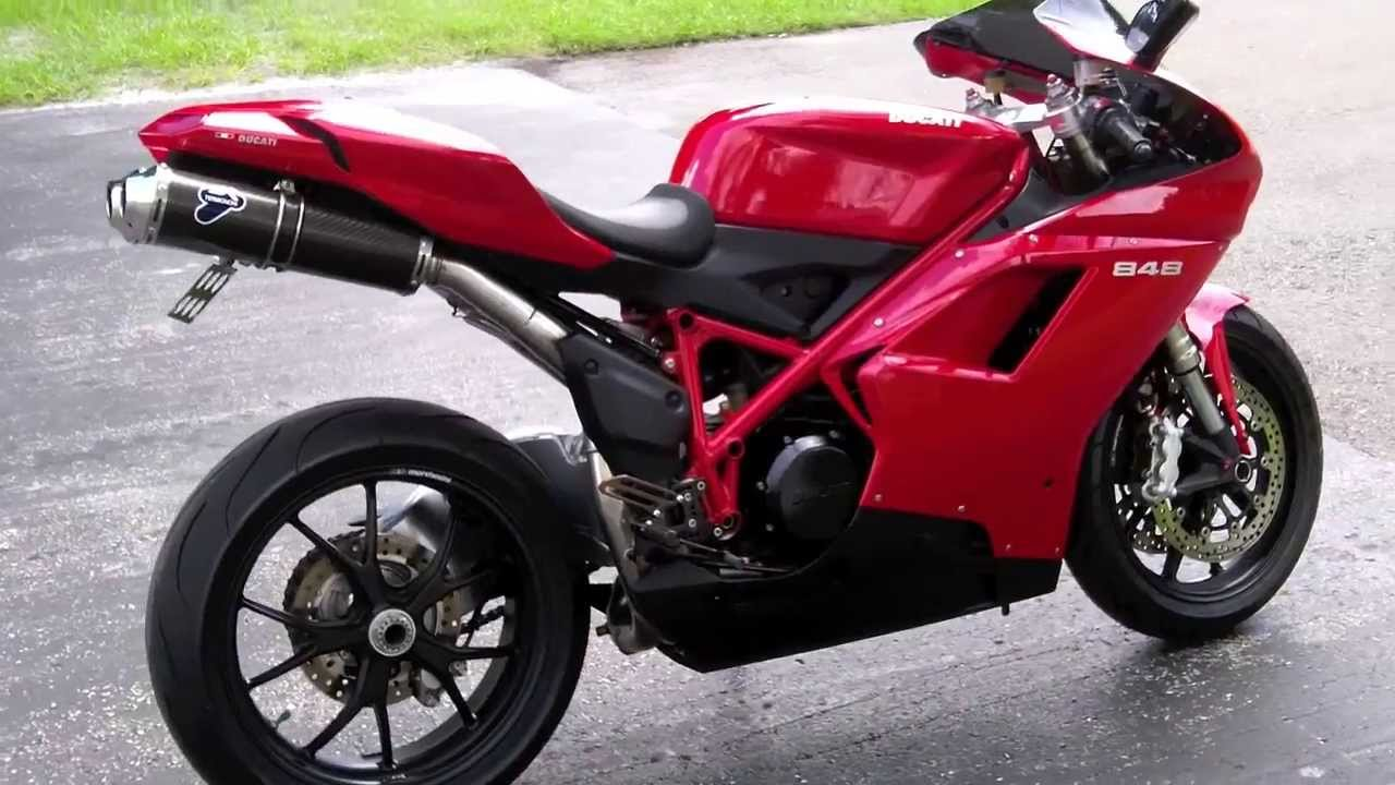2008 Ducati 848 Red at Euro Cycles of Tampa Bay - YouTube