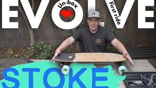 """Evolve Stoke comprehensive review ; unbox and first ride """"this thing carves"""""""