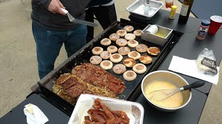 Breakfast on the BlackStone Griddle - The Hungry Man Special