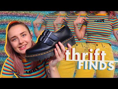 America Thrift Haul   Dr Martens, Vans, American Apparel & UNIF