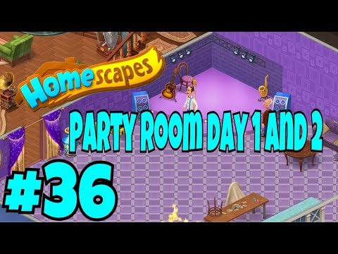 HOMESCAPES Gameplay Story Walkthrough Part #36   #homescapes Party Room Day 1 and 2 New Area