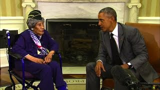 President meets with 110-year-old U.S. vet