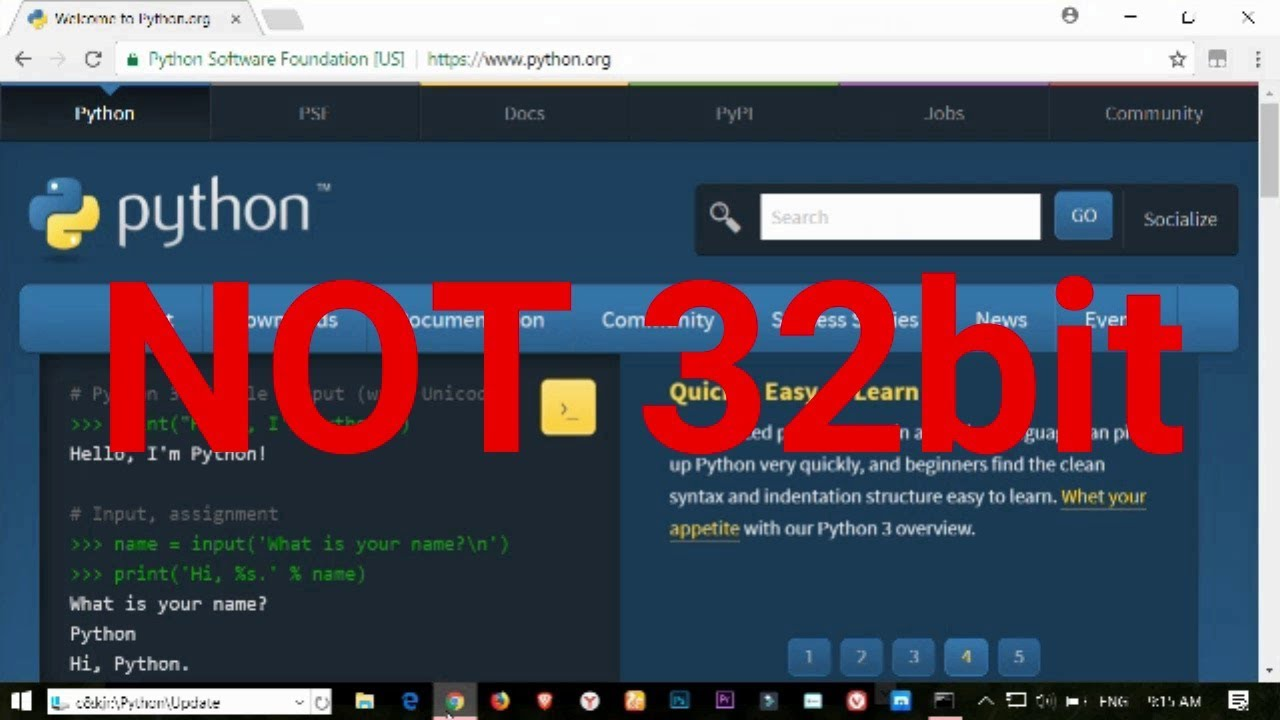 Step by step guide to setting up python in windows.