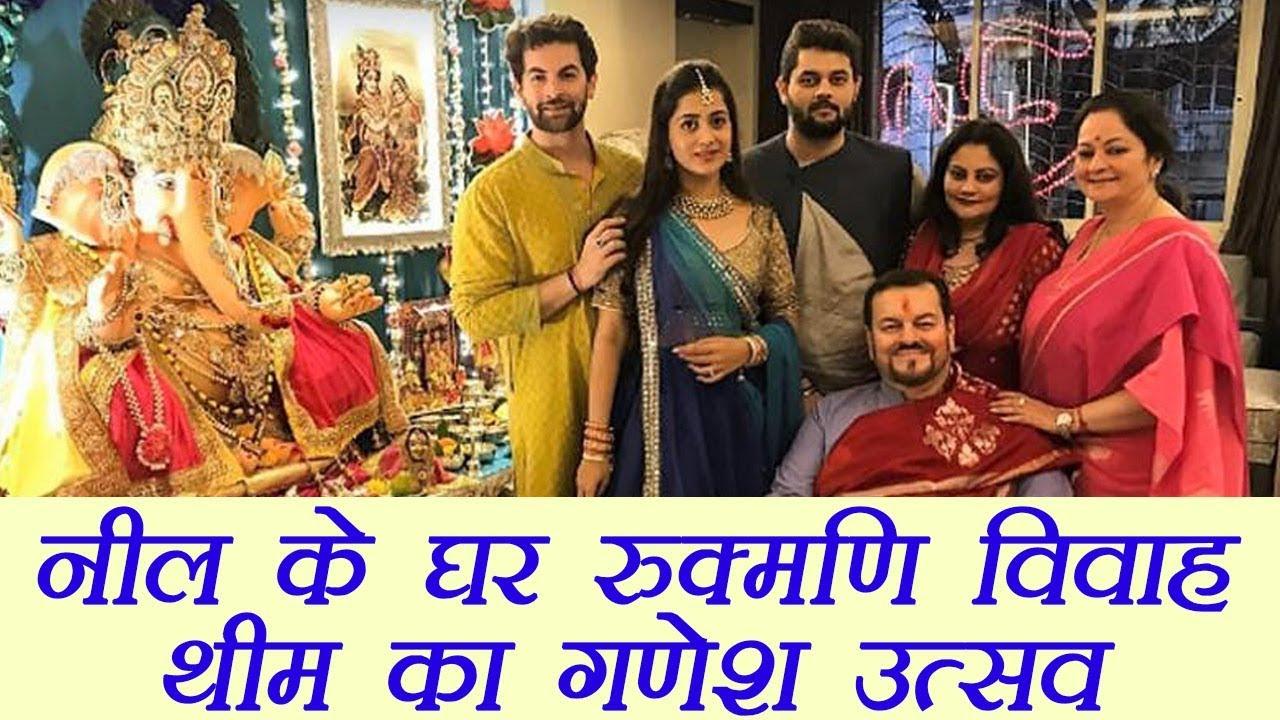Ganesh Chaturthi: Rukmani Vivah theme Ganesh Utsav at Neil Nitin Mukesh house; Watch | Boldsky