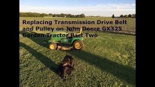 Riding Mower - John Deere L120 transmission tension pulley