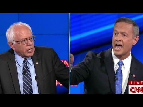 (Democratic Debate) Bernie Sanders, O'Malley get testy on gun control