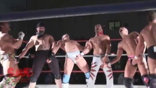 This Wrestler's Mighty Penis Flips 5 Wrestlers By Just Flexing (NSFW)