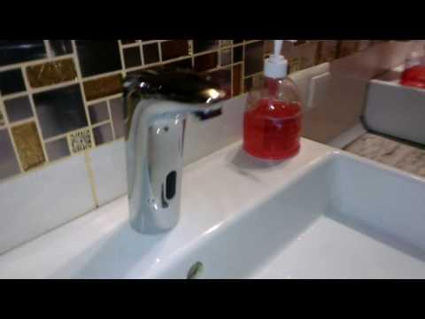 Сенсорный смеситель для раковины как работает Frap 511-1