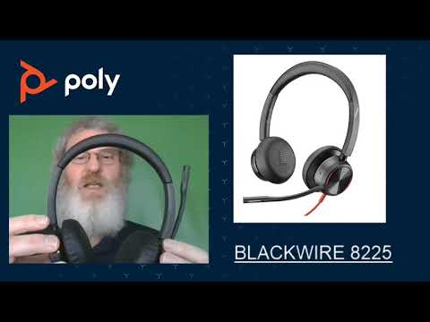 Poly headset Blackwire 8225 con Acoustic Fence - Español