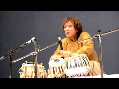 Ustad Zakir Hussain playing some mind blowing (2 + 2/3) postfixed extempore