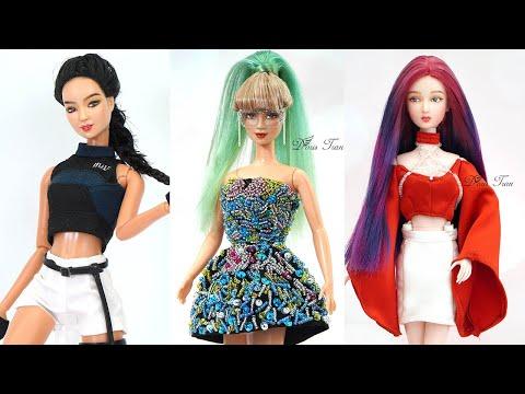10 DIY Barbie Hacks To Look Like BLACKPINK | Jennie, Lisa, Jisoo, Rose