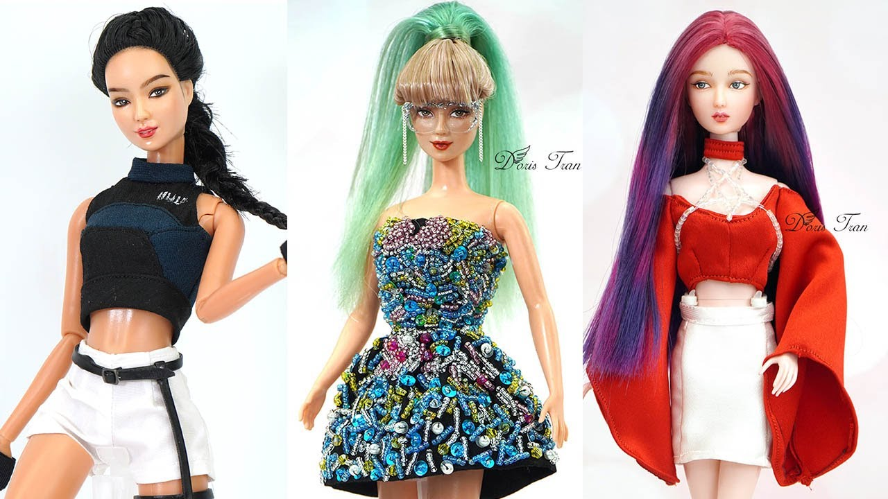 10 DIY Barbie Hacks To Look Like BLACKPINK | Jennie, Lisa, Jisoo, Rose
