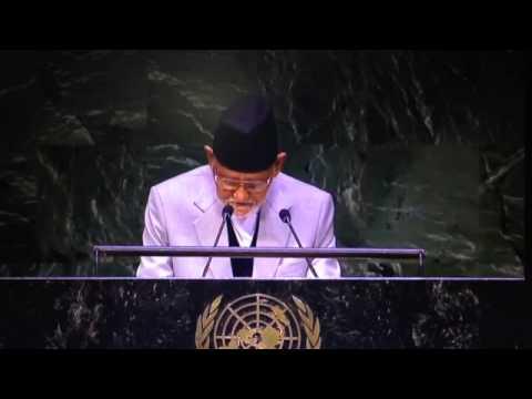 PM Sushil Koirala addressing UNGA