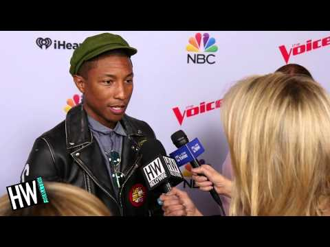 Pharrell Williams Gushes Over 'The Voice' Contestants Sawyer & Koryn!