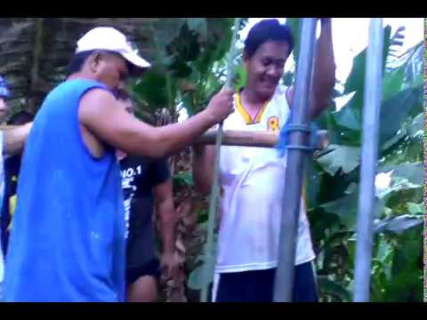 Drilling for water in Philippines pinoy style part 2