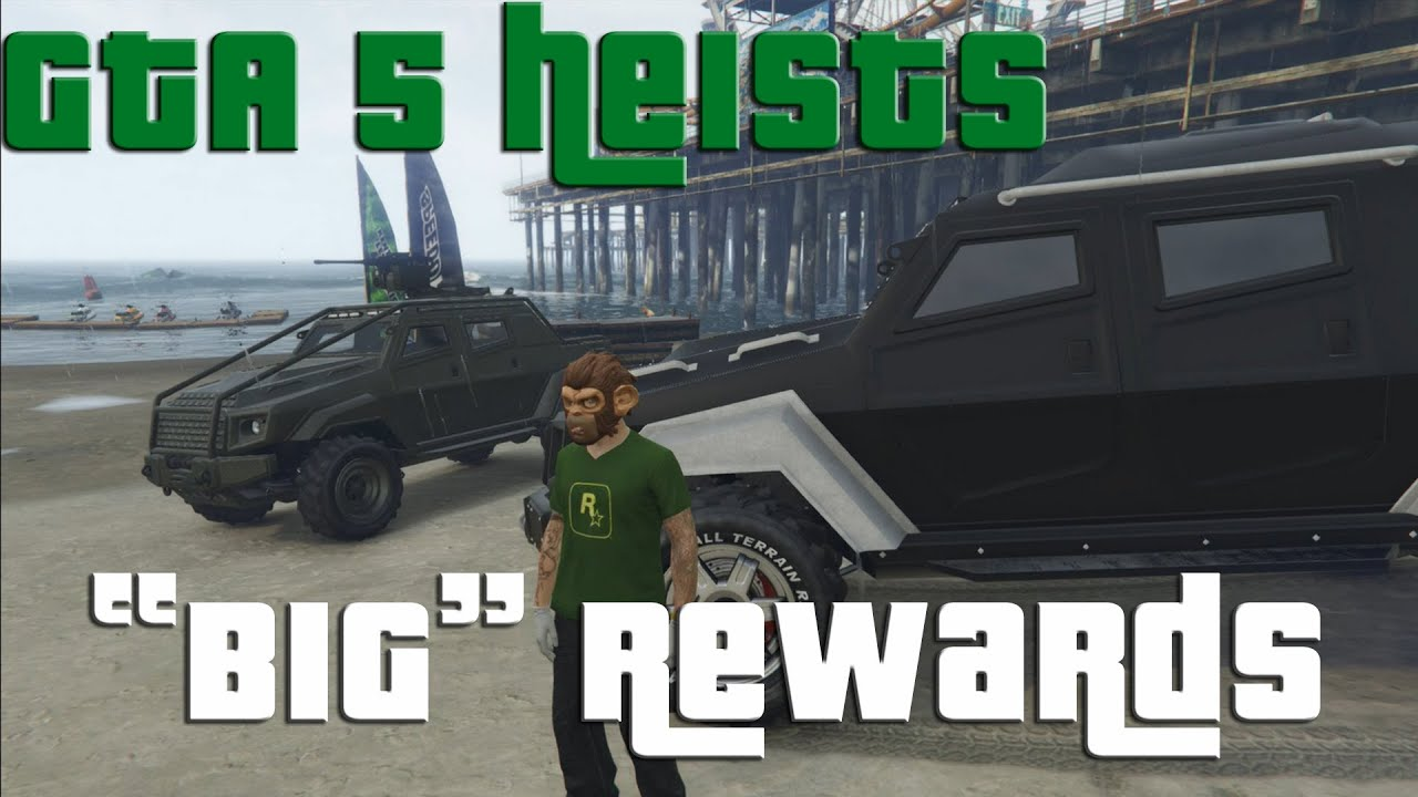 gta v online heists rewards