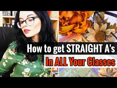 How to Get Straight A's in ALL YOUR CLASSES // 5 Study Tips for Full-Time Students