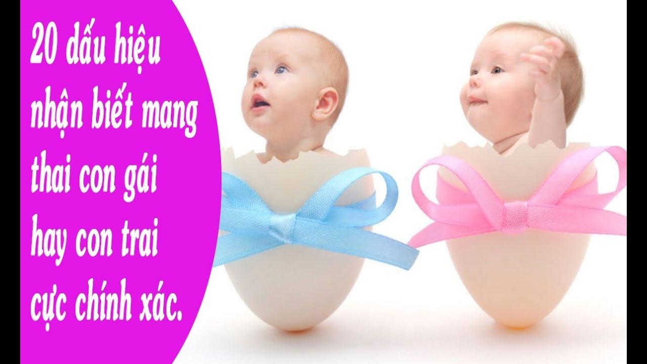 20 dấu hiệu nhận biết mang thai con gái hay con trai cực chính xác.