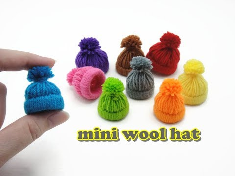 DIY Doll Accessories Mini Wool Hat - Easy