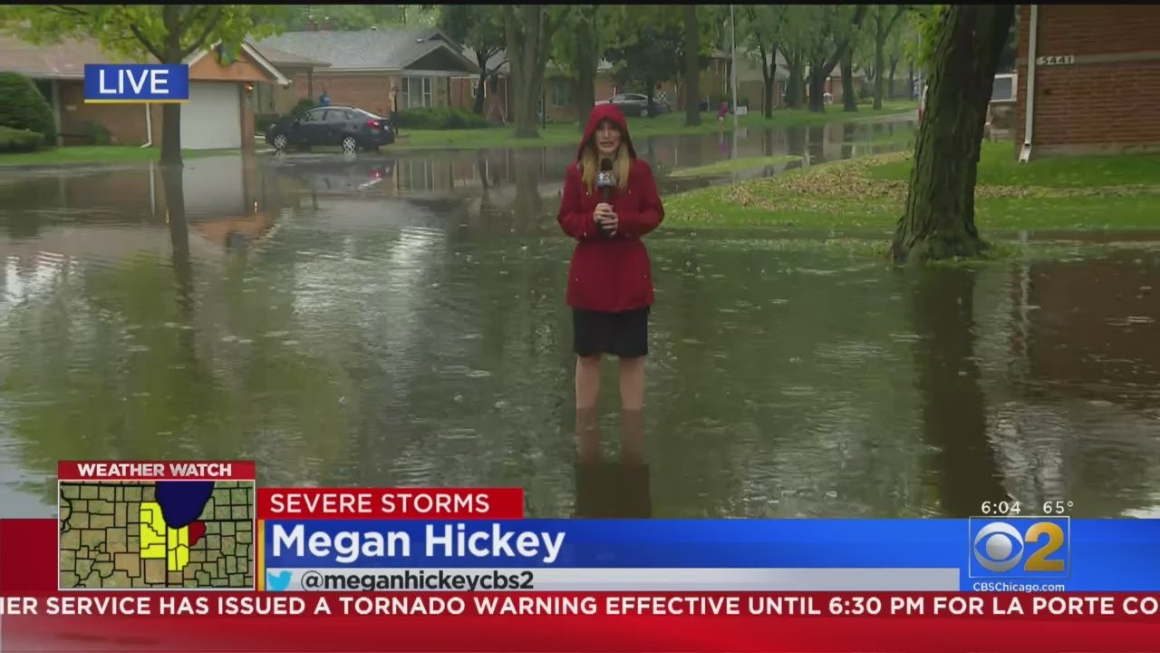 Severe Storms Cause Flooding In Oak Lawn