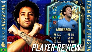 THE FINESSE KING! 92 TOTS FELIPE ANDERSON REVIEW! FIFA 20 Ultimate Team - TOTSSF Player Review