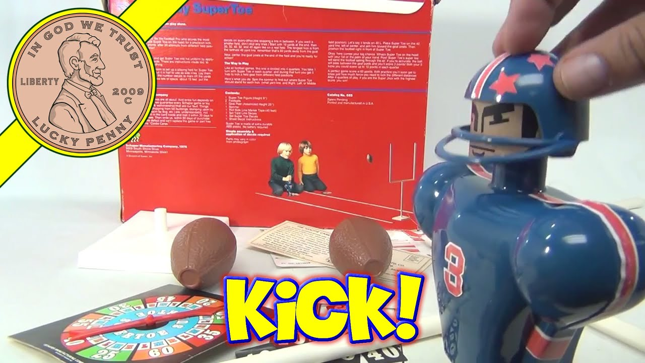 Super Toe Super Jock Football Kicker & Goal 1976 by Schaper Toys