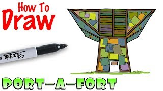 How to Draw Port-A-Fort | Fortnite