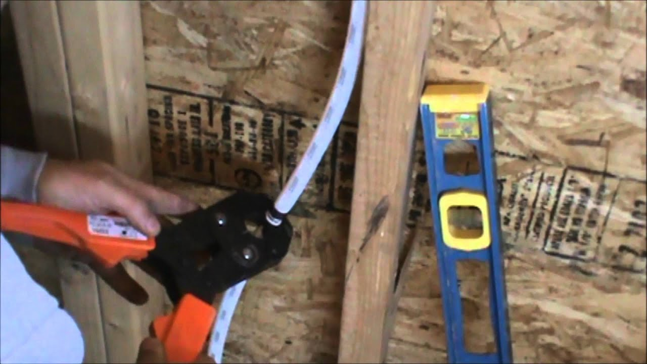 how to run pex tubing water lines part 2 - YouTube