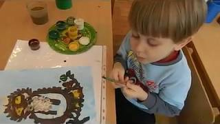 Занятие Рисование Совушка Сова средняя группа