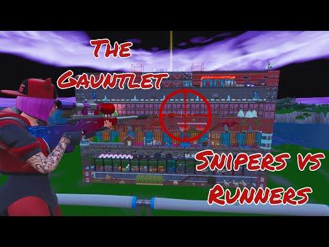 sniper vs runners map code