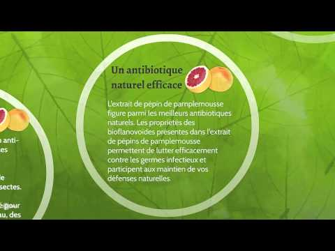 L' extrait de pepin de pamplemousse antibiotique naturel