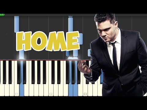 Home-Michael Buble (Piano A accompaniment Tutorial Synthesia)