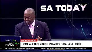 vuclip BREAKING NEWS: Malusi Gigaba resigns as Home Affairs Minister