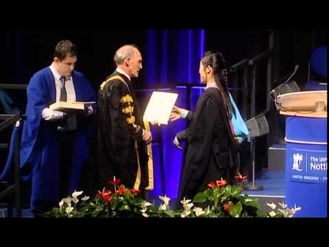 Nottingham University UK  Graduation Cermony