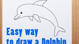 Easy way to draw a Dolphin
