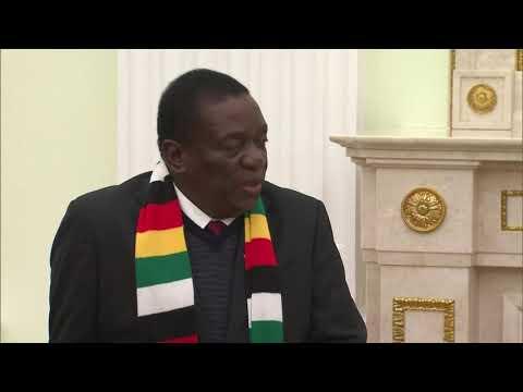 UMnangagwa Wenza Umhlangano LoVladmier Putin ERussia