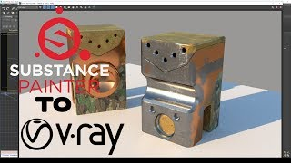 Substance Painter PBR to V-Ray 3.6 (no plugins)