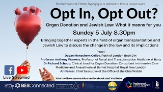 Opt In, Opt Out? Organ Donation and Jewish Law: What it means for you