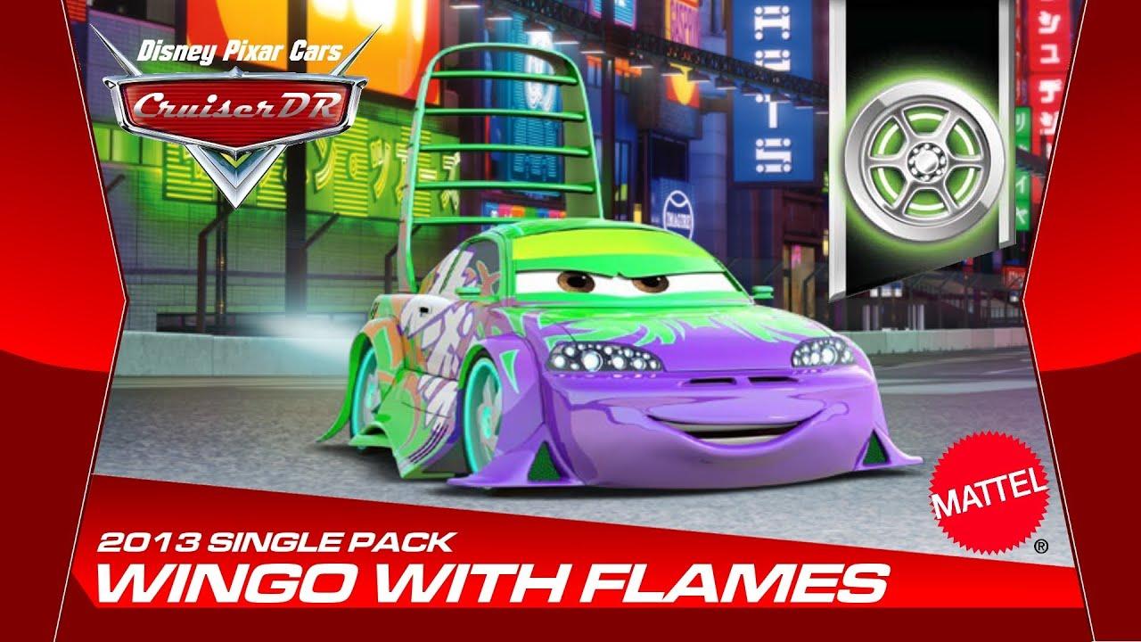 Disney Pixar Cars Spoilo mit Flammen Wingo with Flames 1:55 von Mattel ...