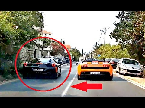 Ferrari 458 Italia Gets Pulled Over By The Police!