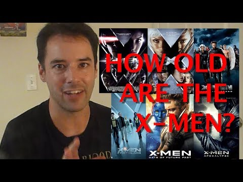 How old are the X-Men in the movies? A mathematical analysis...