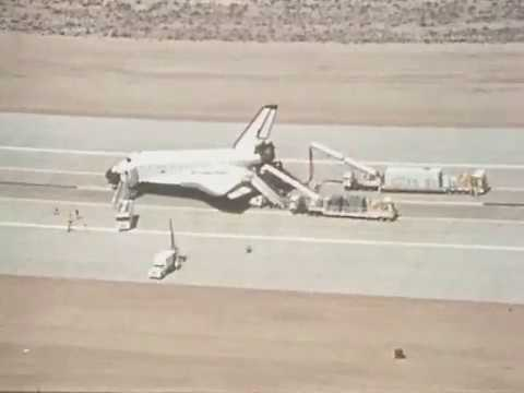 Columbia Post-flight Activity on Runway at Edwards Air Force Base