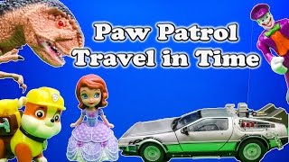 PAW PATROL Nickelodeon Paw Patrol & Disney Sofia the First Time Travel a Paw Patrol Video Parody